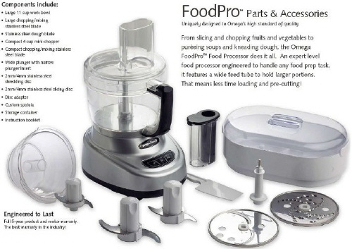 Food Pro Food Processor 11 cup Parts and Accessories